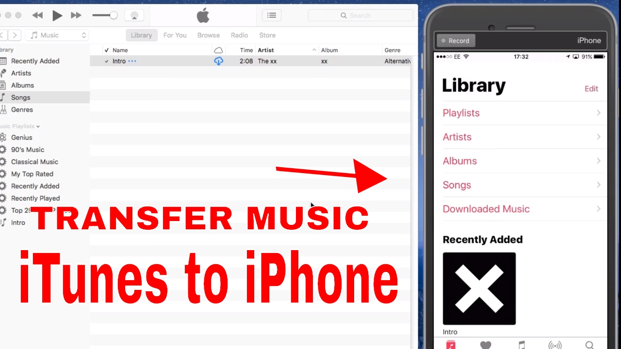 How to move music to new iphone